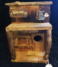 Welcome Bird House - Wooden New