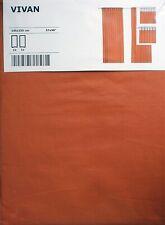 Orange Curtains Vivan IKEA 1 Pair