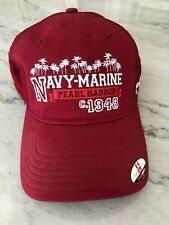Nwt New Under Armour Red Hat Nmgc Navy Marine Golf Course Pearl Harbor Hawaii Lg
