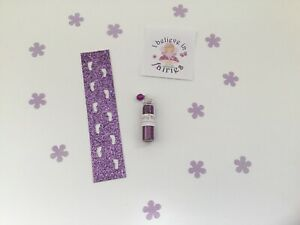 Fairy Footprints Stencil, Fairy Dust And Sticker - Idea For Tooth Fairy - Purple