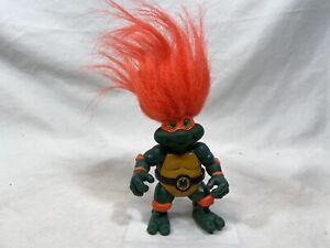 1993 Playmates Tmnt Trolls Michaelangelo Mike Troll Teenage Mutant Ninja Turtles