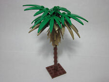 LEGO custom forest palm tree, green and brown sword leaves, new parts FREE ship!
