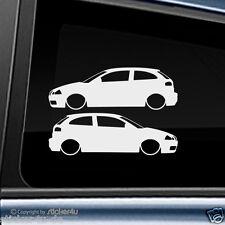 (259) 2x Fun Sticker Aufkleber Motiv: Low and Slow Seat Ibiza 6L Cupra