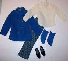 Vintage KEN & BRAD Town Turtle #1430 Complete Mod Suit 1969 & Black Shoes