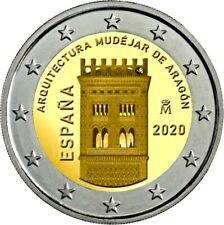 ESPAÑA 2 EUROS 2020 - ARQT. MUDEJAR DE ARAGON - SPAIN 2020 2 EURO