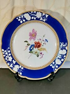 Rare Antique Early 19th Spode New Stone Cabinet Plate Hand Painted c. 1805-1820