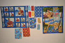 Elvis Blue Hawaii Fabric LOT of 12 PIECES New Old Stock Cranston Village