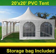 Pagoda PVC Tent 20'x20' - Heavy Duty PVC Wedding Party Tent - White