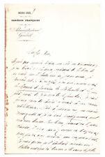 Lettre de Jules Clarétie - Comédie-Française. Juin 1888 - Mélesville