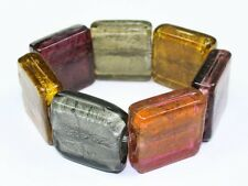 Sunset Multi Grey Amber Chunky Glass Murano Bracelet