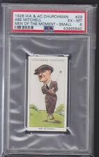 Churchman - Men Of The Moment In Sport 1928 - Abe Mitchell - Golf - PSA 6 EX-MT