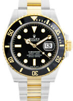 NEW Rolex Submariner Date 18k Gold Steel Ceramic Black 41mm Watch B/P '21 126613