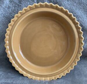 "🌷 Chantal PIE PLATE Round Scalloped Butter Yellow 9"" 1qt Baking Dish Pan"