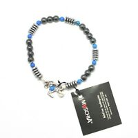 BRACCIALE IN ARGENTO 925 CON TURCHESE ED EMATITE BLE-2 MADE IN ITALY BY MASCHIA