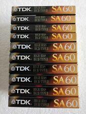 TDK SA 60 High Bias Audio Cassettes - 10 Pack