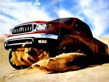 "2004 Toyota Tacoma 4 X 4 Original foldout Print Ad 8.5 x 11"""