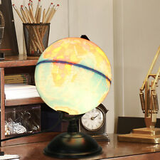 12'' Illuminated World Globe Earth Rotating With Night Light Desk Map