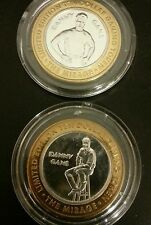 Set of Danny Gans Silver Strike .999 Fine Silver $10.00 Gaming Tokens