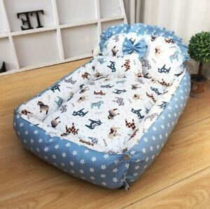 New Handmade Cotton Pet Dog Cat Bed House Sofa Cushion Mat Cover Removable S,M