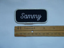 Vintage Sammy Name Uniform Work Shirt Sew on Patch
