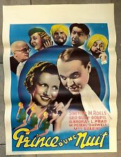 Affiche de cinéma Prince d'une nuit 1935 Lambert de Braz de 85 X 60 cm