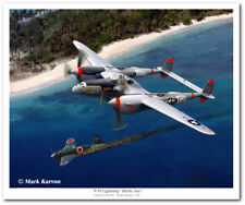 P-38 Lighting - Battle Axe by Mark Karvon - Lockheed P-38 Lightning - Canvas