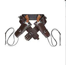 Widmann Cinturone da Cowboy Nero in similpelle con doppia Fondina