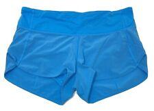 "Lululemon Speed Up Run Shorts Blue 2.5"" Inseam High Rise Women Size 6 EUC"