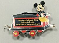 Disney Disneyland Passholder Train Series Mickey Mouse with Quote LE 3000 :)