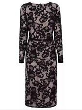 BNWT💕Coast💕Size 6 CORALLA BLACK Mono FLORAL LACE PENCIL DRESS (34 EU, 2US) New