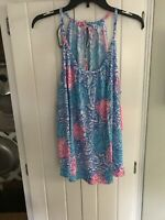 NWT Lilly Pulitzer Lacy Top Blue Haven Raising Shell XL  Free Shipping