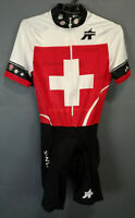 WOMEN'S LADY ASSOS SWISS CYCLISMO CYCLING BICYCLE SHIRT JERSEY SKINSUIT SIZE L