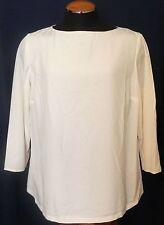 Ralph Lauren Blouse Womens Plus Size 14W Ivory Vadika Long Sleeve Shirt NWT