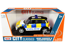 MINI COOPER S COUNTRYMAN POLICE CAR 1/24 DIECAST MODEL BY MOTORMAX 79751