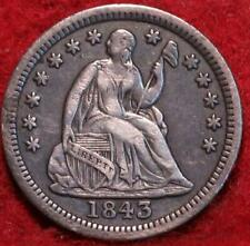 1843 Philadelphia Mint Silver Seated Liberty Half Dime