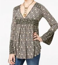 FREE PEOPLE $108 NEW 20658 Rolling Hills Printed Tunic Womens Top L