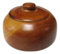 Moroccan Exotic Burlwood Thuya Wood Decor Centerpiece Lidded Canister Trinket