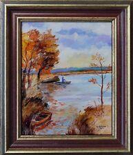 """Ölgemälde Pavlov, Boris 1928-2005 russischer Maler """"Herbst im Rhonedelta"""" xxxxx"""
