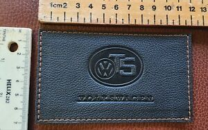 BLACK Leather/ ANY stitch colour - Screw hole in dash Trim/patch . VW T5 & T5.1