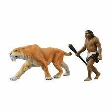 Takara Tomy ANIA Animal AL-10 Saber Tiger with primitive man Action Figure Toy
