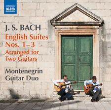 J.S. Bach / Monteneg - English Suites Arranged for Two Guitars Nos. 1-3 [New CD]