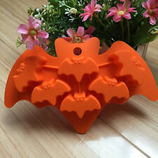 Cake Mold Halloween Bat Flexible Silicone Mould For Candy Chocolate Soap