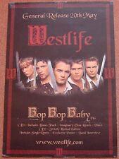 Westlife UK Promo Poster 'Bop Bop Baby'