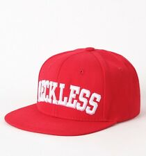 Young & Reckless Red Block Wool Blend Flat Bill Snapback Hat Ball Cap New NWT