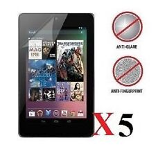 5 X Google Nexus 7 Anti-Glare (Matte) Screen Protectors & Clean Cloth