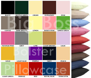 Plain Dyed Bolster Pillow Cases Covers Nursing Maternity Orthopedic All Colours
