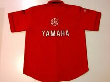 MENS SIZE MEDIUM YAMAHA S/SLEEVE BUTTON FRONT SHIRT EX-COND