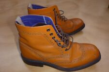 paul smith sz 81/2 euro 42 1/2 mustard tan  trucker brogues boots