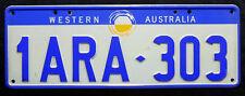 Nummernschild Australien aus Western Australia mit Sonne. S-3772.
