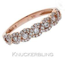 Diamond Scroll Design Wedding Eternity Ring 0.50ct F VS set in 18ct Rose Gold